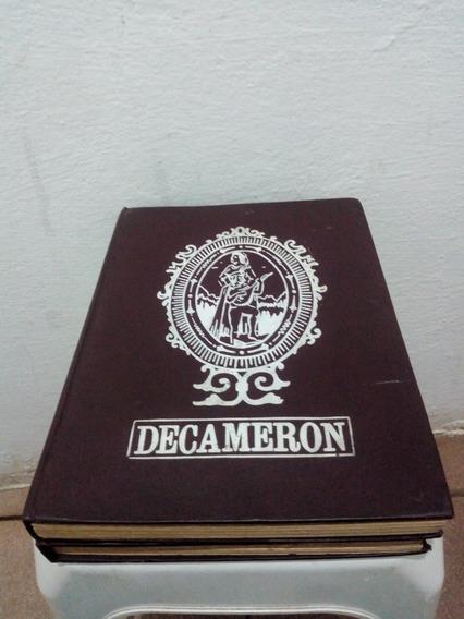 Livro Antigo Capa Dura Decameron 2 Volumes