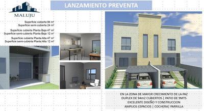 Lanzamiento Pre Venta Con Facilidades   Duplex A Estrenar