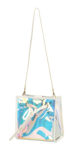 Bolsa Ombro Holográfica Up4you Transparente Transversal