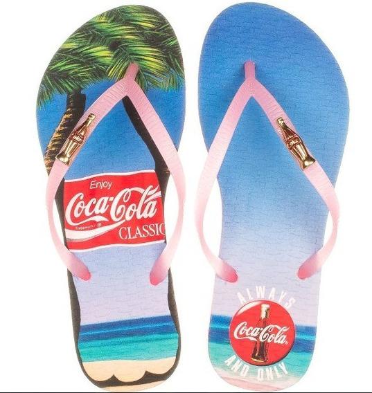 Chinelo Coca-cola Always Summer Rosa Cc2782 Original