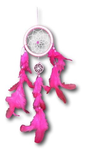 Filtro Dos Sonhos Com Penas  Rosa Ref: 1036