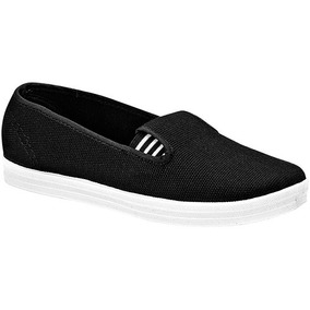 Zapatos Sneaker Flats Tovaco Dama Textil Negro 85061 Dtt