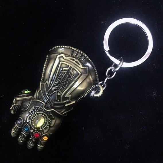 Chaveiro Thanos Marvel Guerra Infinita Cor Ouro Envelhecido