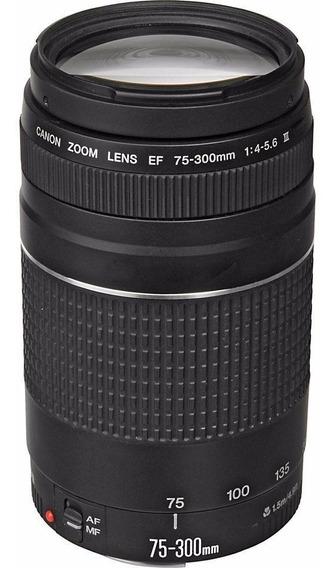 Lente Canon 75-300mm F/4-5.6 Iii Ef Nf Garantia 1 Ano