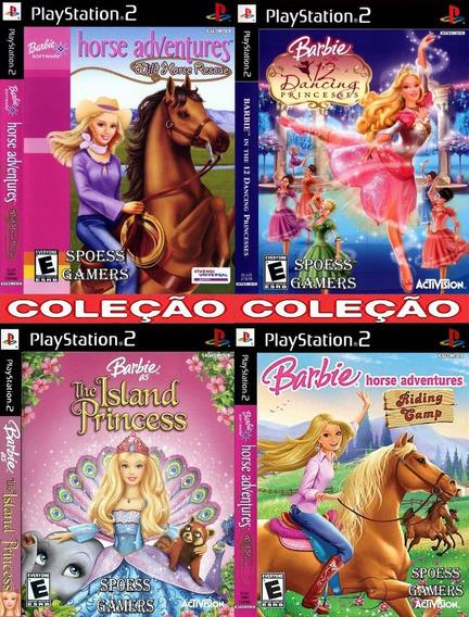 Barbie Ps2 Coleção (4 Dvds) Patch Infantil Meninas