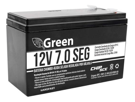 Bateria 12v Alarme 7,0 Seg Selada Green Nobreak Cerca 1linha