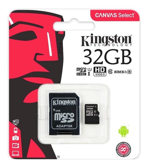 Cartão De Memória 32gb Micro Sd Kingston Classe 10 Original
