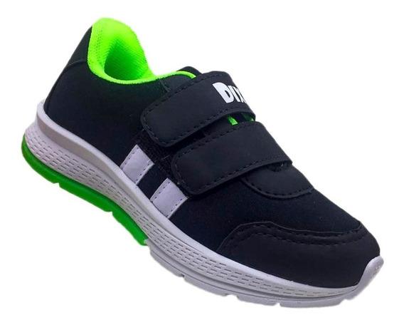 Tenis Infantil Masculino Vintagge Calce Fácil Velcro