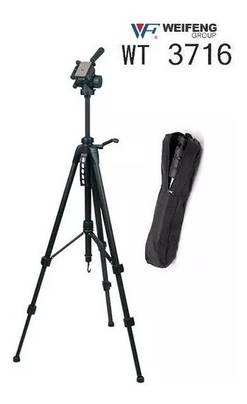 Tripé Cabeça Semi Hidraulica 3716 + Bag P/canon Nikon Sony