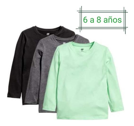 Pack X3 Camisetas H&m, Nuevas Con Etiqueta