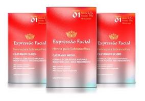 Kit C/3 Hennas E. Facial (escolha As Cores Após A Compra)