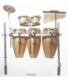 Soporte Conga Bongo Percusion Con Bar Chimes Y Plato