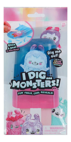 I Dig Monsters Coleccionables Popsicle 12 Cm. Rosa/azul