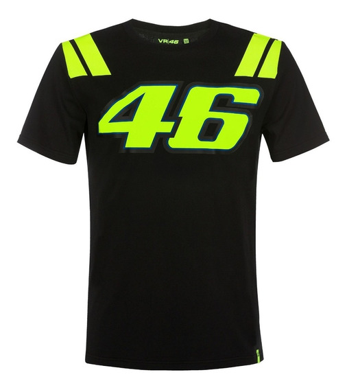 Playera Casual Vr46 The Doctor 46 Negro Licencia Oficial