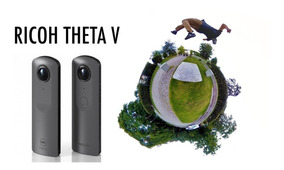 Ricoh Theta V Spherical 360º 4k Câmera Vr + Top Que O S Sp