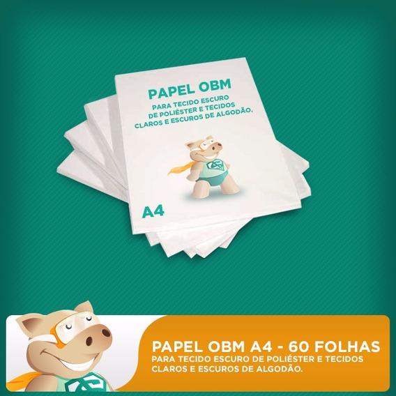 Papel Obm A4 - 60 Folhas - Para Tecidos Escuros E Claros