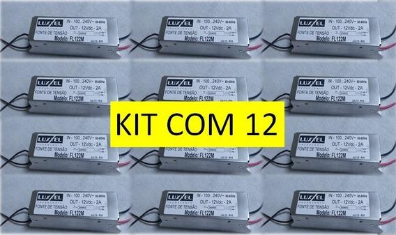 Kit Com 4 Fontes Led 12v 2a - Bivolt (luxxel)