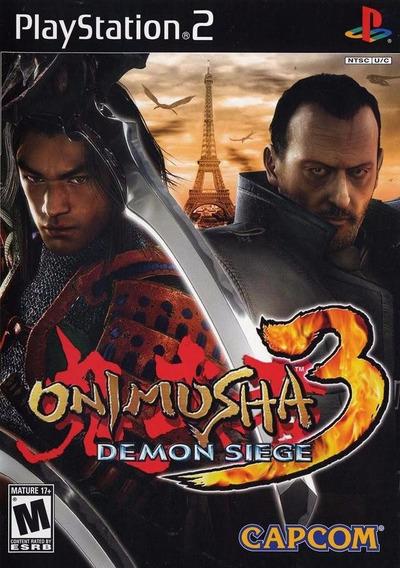 Jogo Mídia Física Onimusha 3 Demon Siege Original Ps2