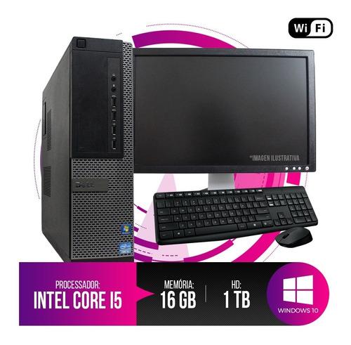 Pc Dell Optiplex Intel Core I5, 16gb Ram Ddr3, Hd 1tb