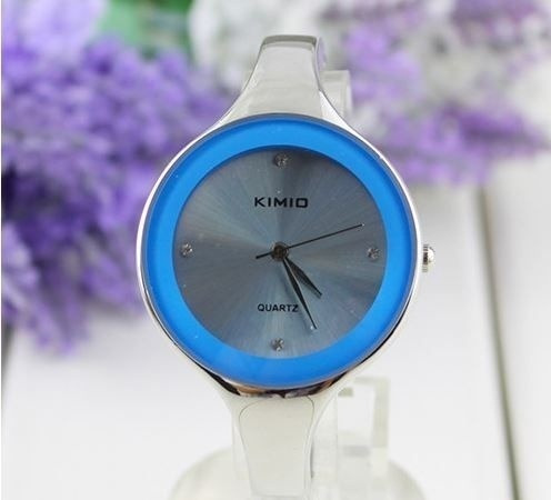 Relógio Bracelete Em Aço Kimio Blue