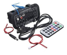 Kit 10placa Amplificada Decodificador Mp3/ 50w Usb Bluetooth
