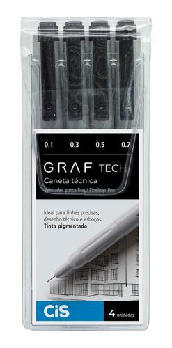 Caneta Técnica Graf Tech C/4 Cis