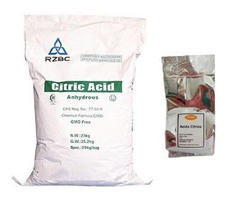 Acido Citrico 250 Gr Grado Alimenticio