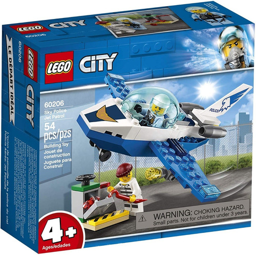 Imagen 1 de 2 de Lego Bloques Armar Policía Aérea Jet Patrol Patrulla 60206