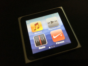 Apple Ipod Nano 6 Geração 16gb Prata Mp3 Player
