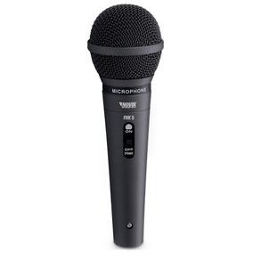 Microfone Dinâmico Novik Fnk5 Cardióide Com Fio.