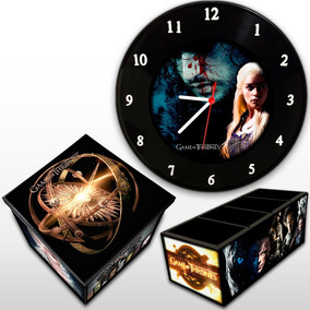 Game Of Thrones Relógio Parede + Caixa Box + Porta Controle