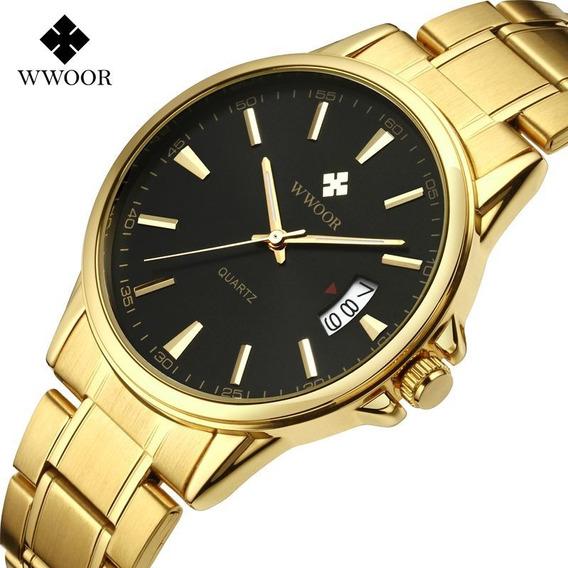 Wwoor Original Relógio Analógico Masculino Executivo