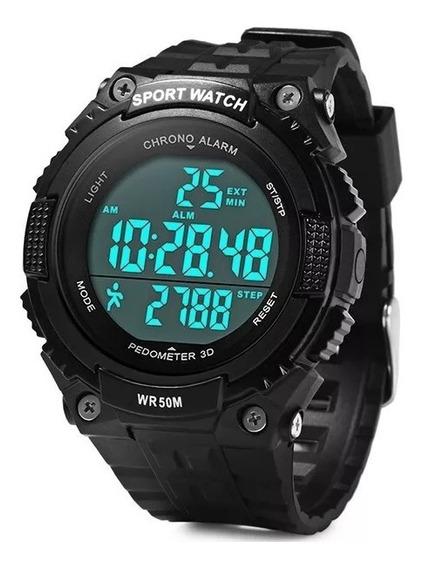 Skmei 1112 Multifuncional 3d Pedômetro Masculino Relógio De