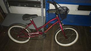 Bicicleta De Mujer Rodado 16 Con Canasto Como Nueva