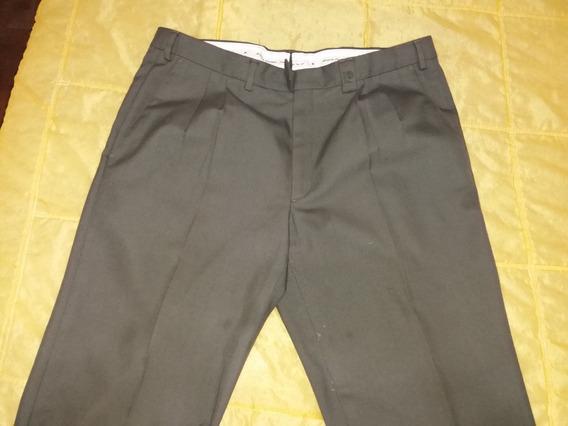 Pantalon De Vestir Hombre Verde Talle 46