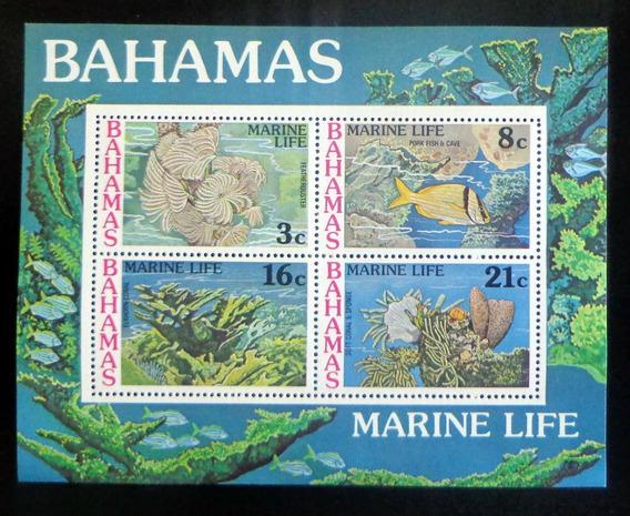 Bahamas Peces, Bloque Sc. 409a Vida Marina 77 Mint L8708