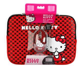 Funda Tablet Netbook Hello Kitty Hasta 10 Pulgadas + Mouse