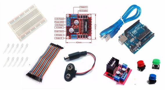 Kit (protoboard + Jumpers + Jack Pack + 10 Leds + Ard. Uno
