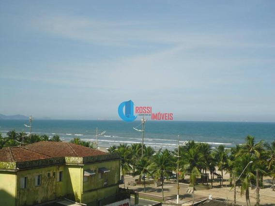 Apartamento 2 Dormitórios (1 Suite) Com Lazer E Vista Da Praia E Sacada Ampla - Ap1101