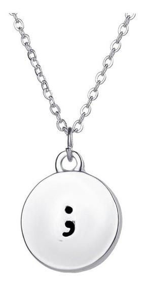 Long Pendant Necklace Female Roud Shappe Punctuation Pendant