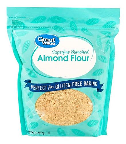 Harina De Almendras Great Value Gluten Free Sin Gluten 907gr