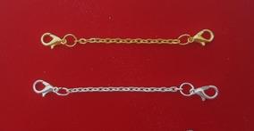 2 Extensores Colar Banh Ouro: Amarelo + Branco 8cm 1072 1106