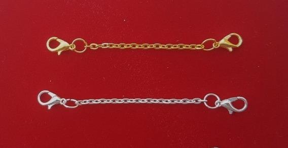 2 Extensores Colar Banh Ouro: Amarelo + Prata 8cm 1072 1106
