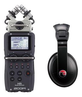 Grabadora Portátil De Cuatro Pistas Zoom H5 Con Audífonos