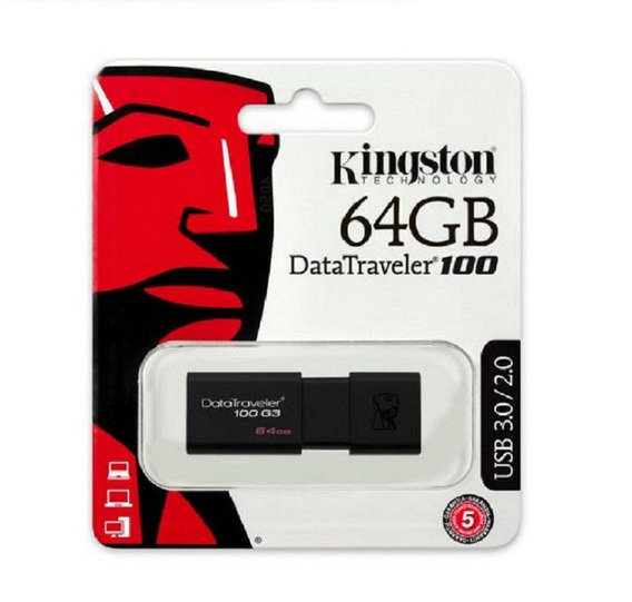 Pen Drive Kingston 64gb Dt100 G3 Usb 3.0 Dt100g3/64gb