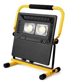 Refletor Lanterna Emergência Led Cob Resistente Água 3 Intensidades + Sinal Emergência Recarregável Bivolt 110v/220v