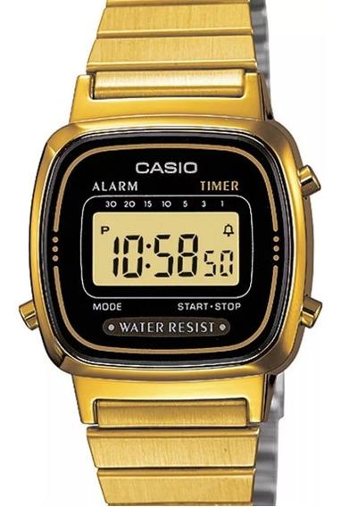 Relógio Casio Feminino Vintage Dourado - La670wga-1df