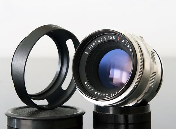 Lente Zeiss Biotar 58mm F.2.0 (eos-fujix-micro4\3-sony E)