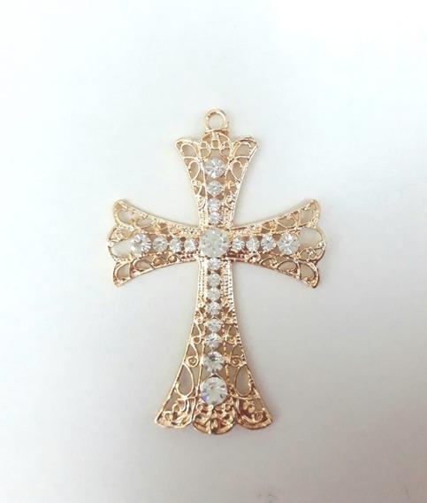 Cruz Crucifixo Para Terço De Noiva, Banhado, Com 2 Unidades