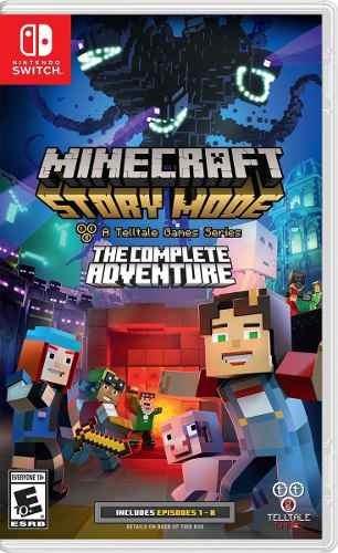 Juego Minecraft Story Mode Nintendo Switch Nuevo Original